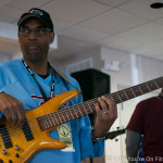Gerald Veasley kicking off the opening session of Gerald Veasley's Bass Boot Camp this year in Philadelphia.