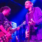 Tony Hall and Nick Daniels III doubling up on bass during the Dumpstphunk show at Terminal West Atlanta.