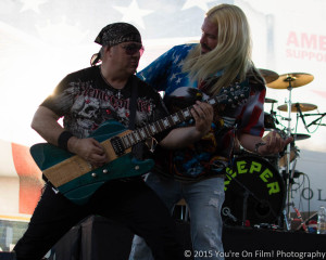 Jayson Powers & Rob Howard from Keeper play to the crowd on the Budweiser stage at Leesburg Bikefest 2015.