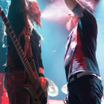 Kyle Sanders (l) and Chad Gray (r) from HELLYEAH at The Tabernacle in Atlanta on 28 April, 2015.